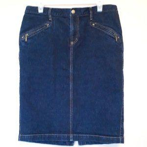 Ralph Lauren Jeans Co Size 10 Denim Skirt